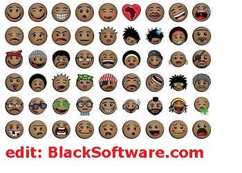 emoticons of black people